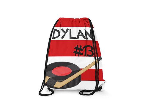 Hockey - Personalized Draw String Bag