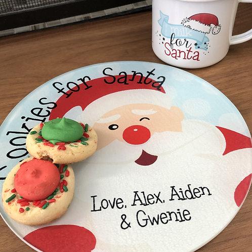 Cookies For Santa - Plate and Mug Set for Kids