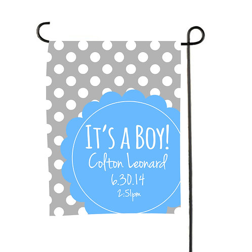 It's a Boy - Personalized Birth Announcement Flag