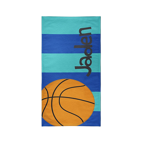 Basketball - Personalized Beach Towel
