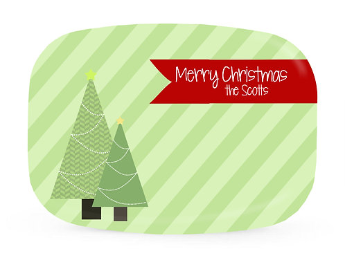 Trees - Personalized Christmas Platter