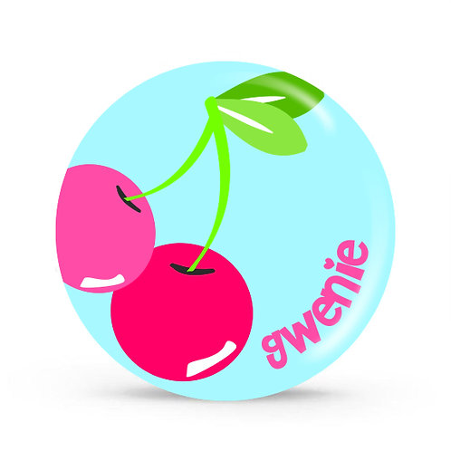 Cherries - Personalized Plate For Kids