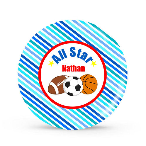 All Star - Personalized Plate For Kids