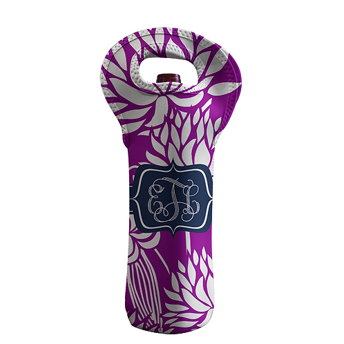 Foral - Personalized Wine Bottle Tote