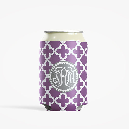 Purple Clubs  - Personalized Can Insulator Coolie