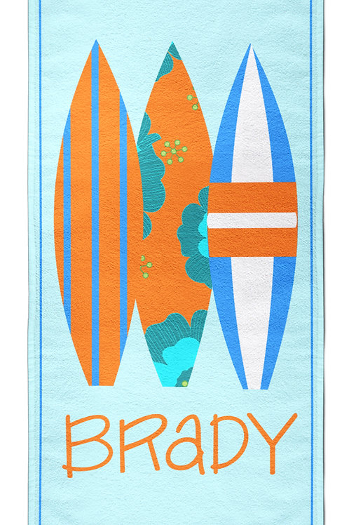 Surfer- Personalized Beach Towel