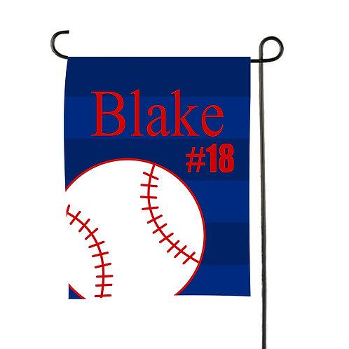 Play Ball  - Personalized Baseball Garden Flag