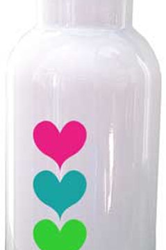 Heart Row- Personalized Water Bottle Item #WB27