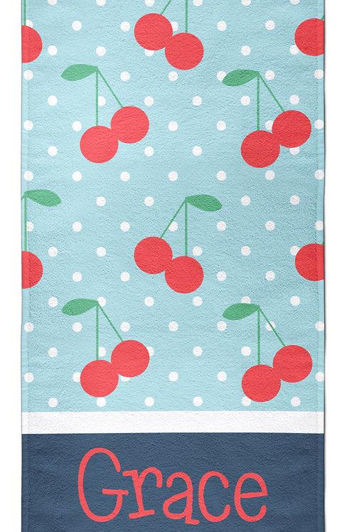 Cherries - Personalized Beach Towel