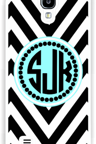 Black Chevron - Personalized Samsung S4 Cases