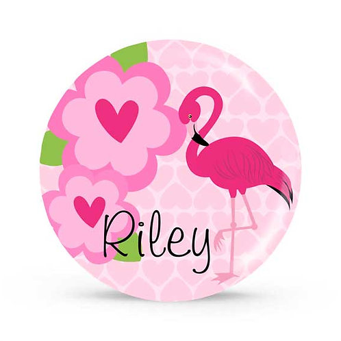 Flamingo - Personalized Plate For Kids