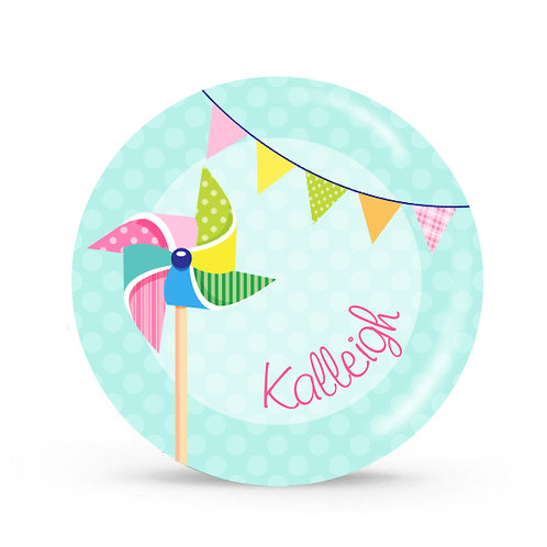 Pin Wheel - Personalized Plate For Kids
