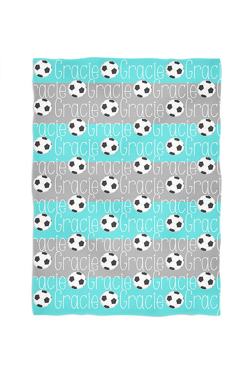 Soccer - Personalized Throw Blanket