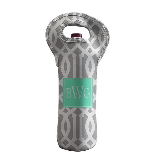 Gray Roman - Personalized Wine Bottle Tote