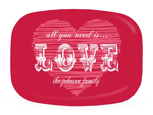 Love - Personalized Valentine Platter