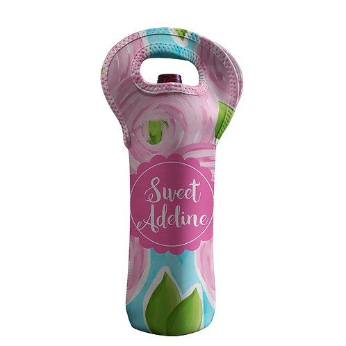 Adeline Rose - Personalized Wine Bottle Tote