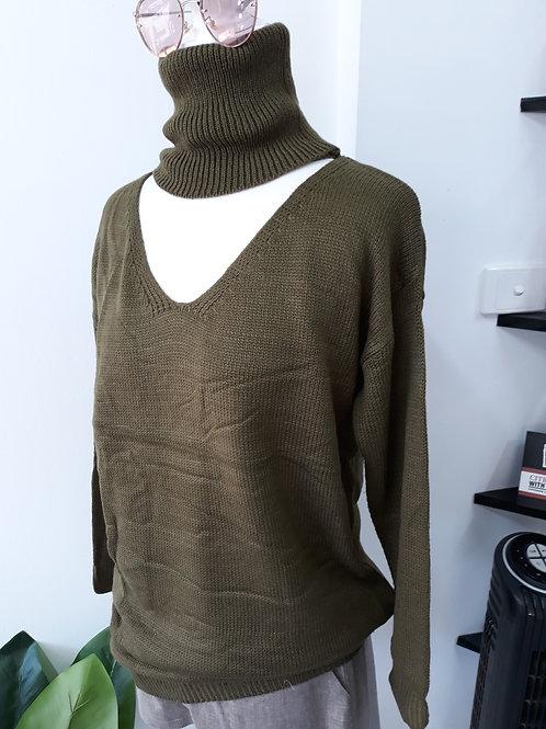 Khaki Knit Jumper