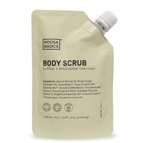 Noosa Basics Body Scrub with Coffee and Activated Charcoal