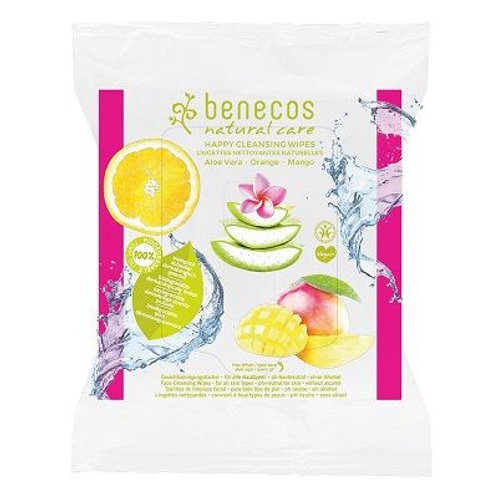 Benecos Happy Cleansing Wipes - pack of 25