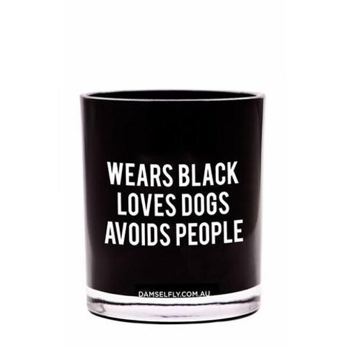 Wears Black, Avoids People Candle - large