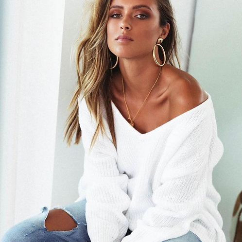 Syndays  white knit Jumper