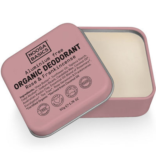 Noosa Basics Organic Deodorant - Rose & Frankincense