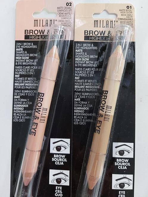 Milani Brow and Eye highlighter pencil bundle