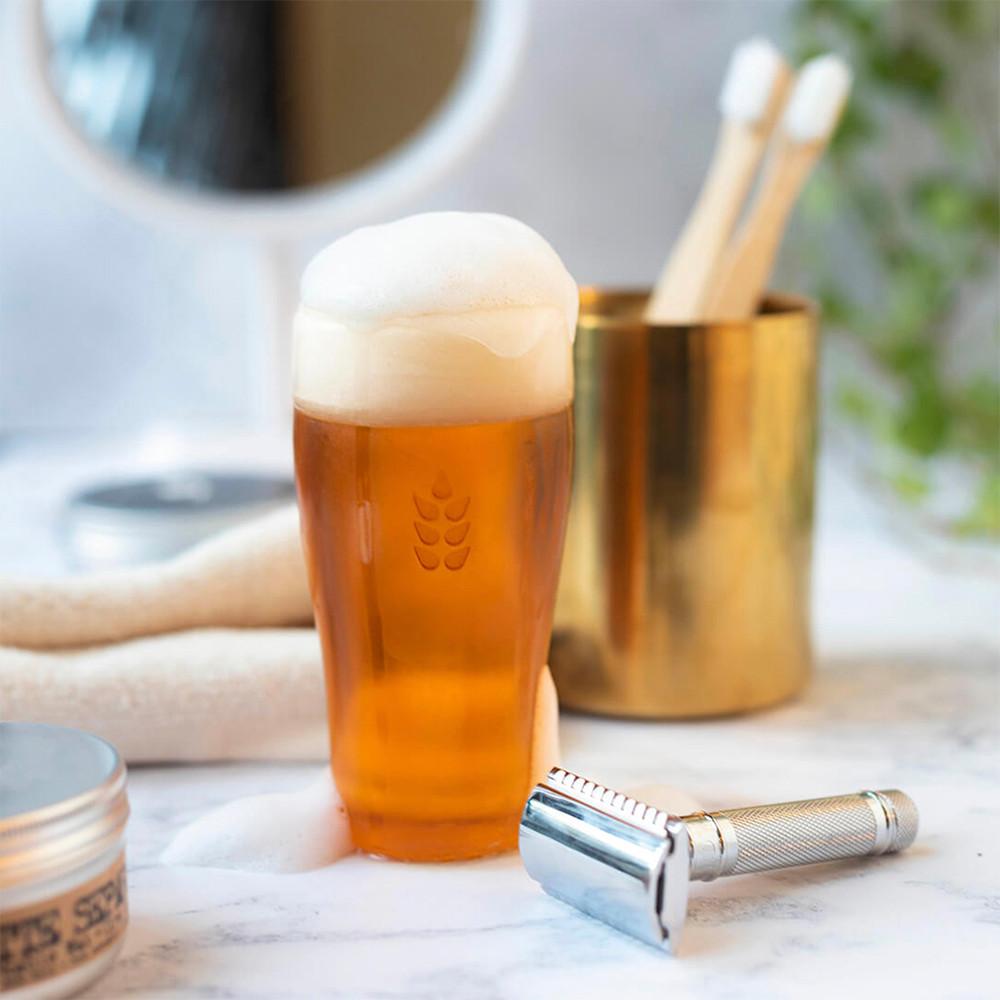 Die Bierseife integriert sich perfekt in Dein Badezimmer