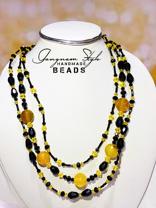 Beautiful necklace with crystal beads