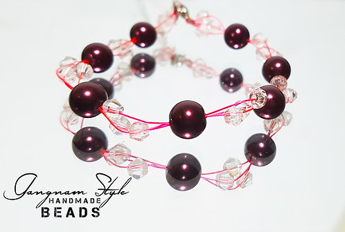 Stunning.. Bracelet with Round and squire beads