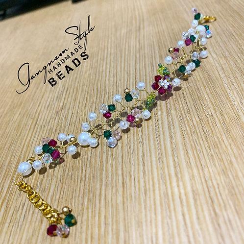 twisted floral bracelet