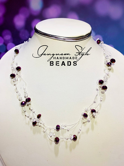 A beautiful necklace with crystal beads