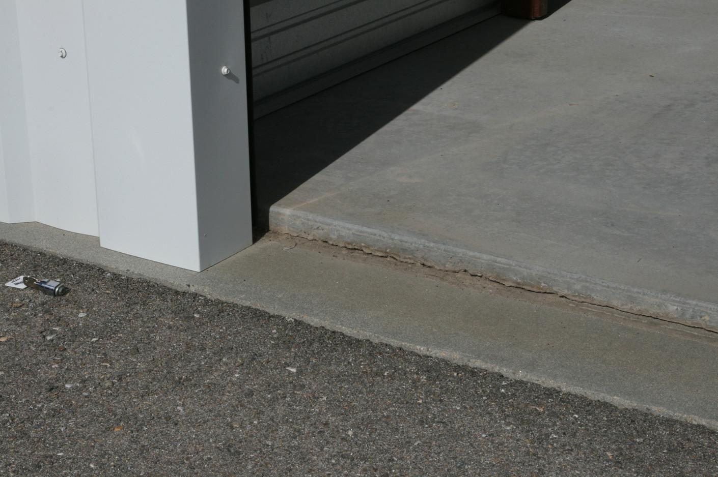 Raised concrete floor in all units