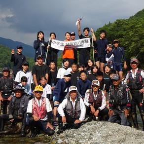池川中学校アユ友釣り体験学習