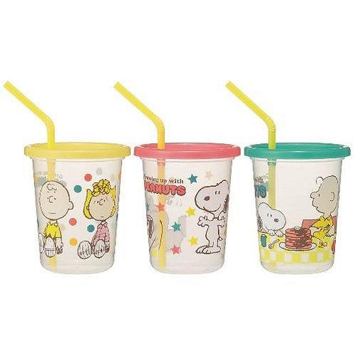 日本製 Skater Snoopy 防漏吸管水杯 隨身杯 320ml 345760