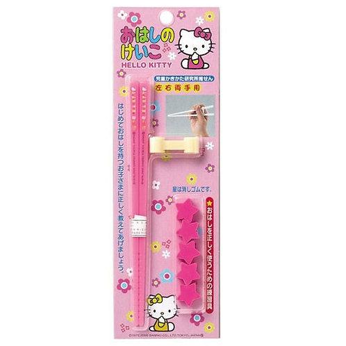 日本製 Sanrio Hello Kitty 左右手合用學習筷子 067341