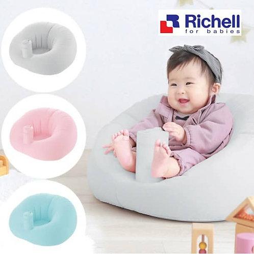 (現貨) Richell Baby 毛絨質地充氣沙發 (學座椅)