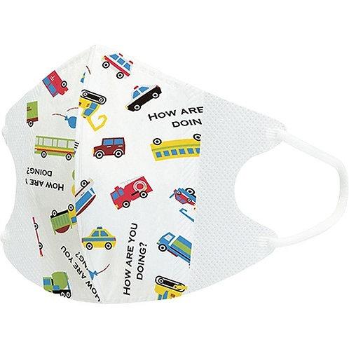 Skater Being Active 車車 兒童立體口罩10個裝  (4歲以上用) 418341