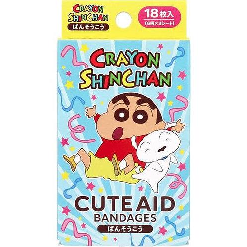 (現貨) 日本製 Santan Crayon Shinchan 蠟筆小新 藥水急救膠布 18枚