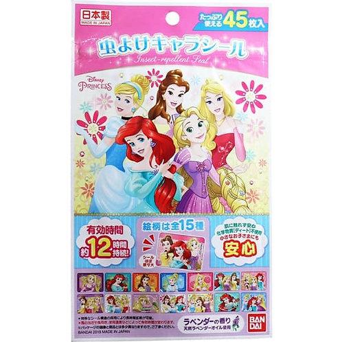 (現貨) 日本製 Bandai Disney Princess 迪士尼公主 純天然成分驅蚊貼防蚊貼 45片裝