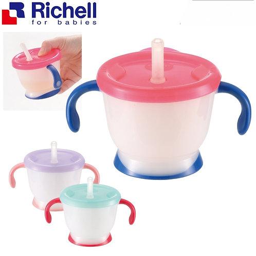 Richell Aqulea 泵水式吸管練習杯 150ml (6個月起)