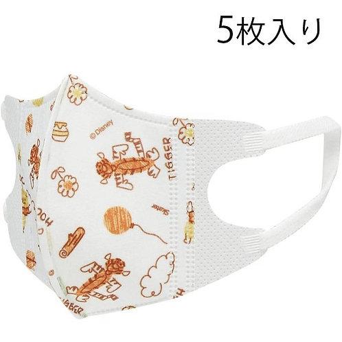 (現貨) Skater Winnie the Pooh 幼兒立體口罩5個裝 (1-3歲用)