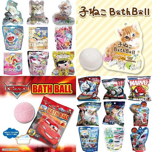 Bandai Disney Toy Story/ Marvel / Doraemon / 貓貓 .. 等等! Bath Ball 發泡入浴球 (附玩具)