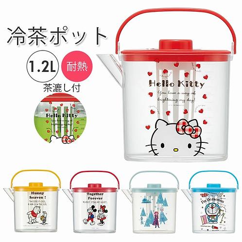 (預訂) Skater 卡通人物透明濾茶器冰茶水瓶 1.2L