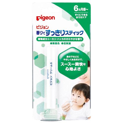 日本製 Pigeon 6個月起嬰兒 清爽感鼻頭潤膚棒 (微香)  150750