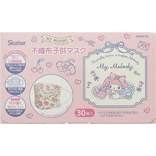 Skater Sanrio My Melody 兒童口罩30個裝 (4歲以上用) 434273