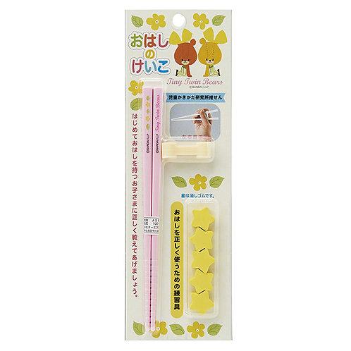 日本製 Tiny Twin Bear 左右手合用學習筷子 111945