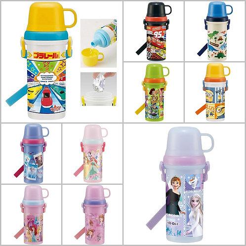 (預訂) 日本製 Skater 2 Way 卡通人物直飲式連杯水樽 (付肩帶) 480ml