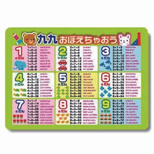 日本製 九因歌 (九九) 沾水即貼 可重覆使用 浴室海報 226498