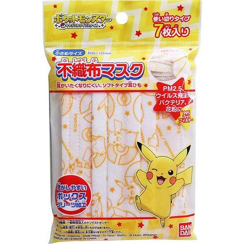 (現貨) Bandai Pokemon 兒童三層口罩7個裝 12.5cm x 9cm